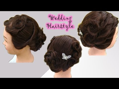 Attractive Western Wedding Hairstyle