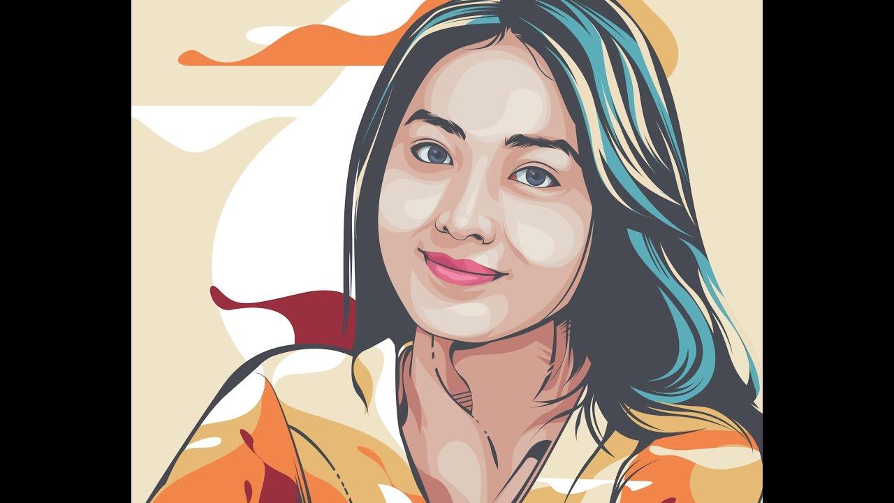 Line Art Vector Tutorial : Belajar vector tutorial line art adobe illustrator cs