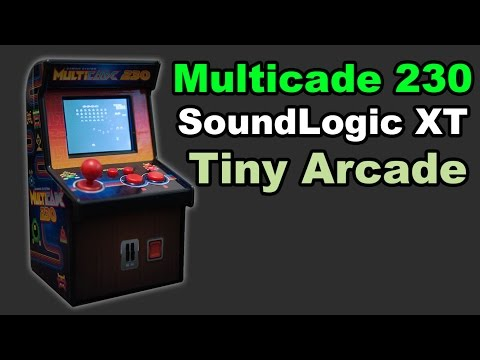 SoundLogic XT Multicade 230 Miniature Retro Arcade Video Game Machine Review and demo