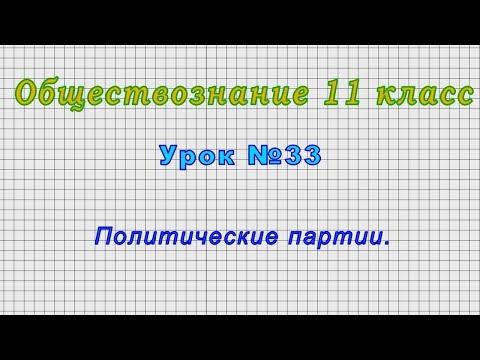 Обществознание 11 класс (Урок№33 - Политические партии.)