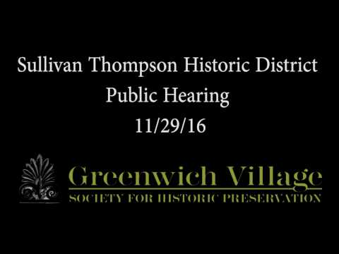 Sullivan Thompson Historic District Public Hearing 11/29/16