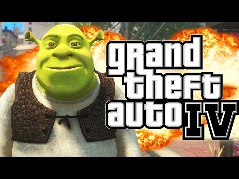 GTA 4 - SHREK DOES CARMAGEDDON MOD (GTA IV Funny Moments)