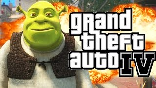 GTA 4 - SHREK DOES CARMAGEDDON MOD (GTA IV Funny Moments) Thumbnail