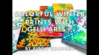 Create Gorgeous Snowflake Prints with Gelli Arts® Printing Plates