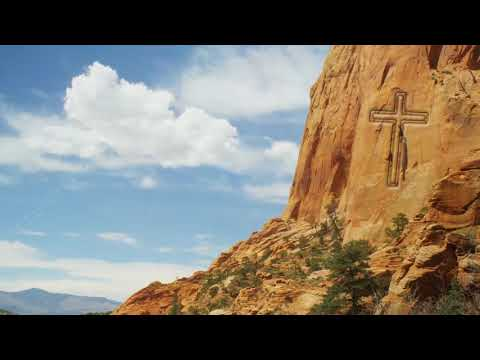 Cross on side of a mountain Christian Video Clip