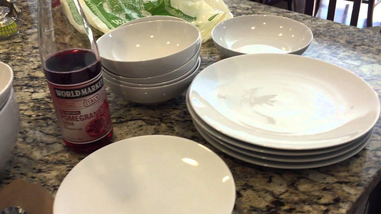 World Market Haul! (White Dinnerware u0026 More) & World Market Haul! (White Dinnerware u0026 More) - YouTube