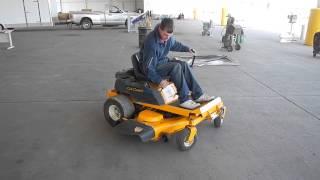 rzt cub cadet zero turn riding lawn mower