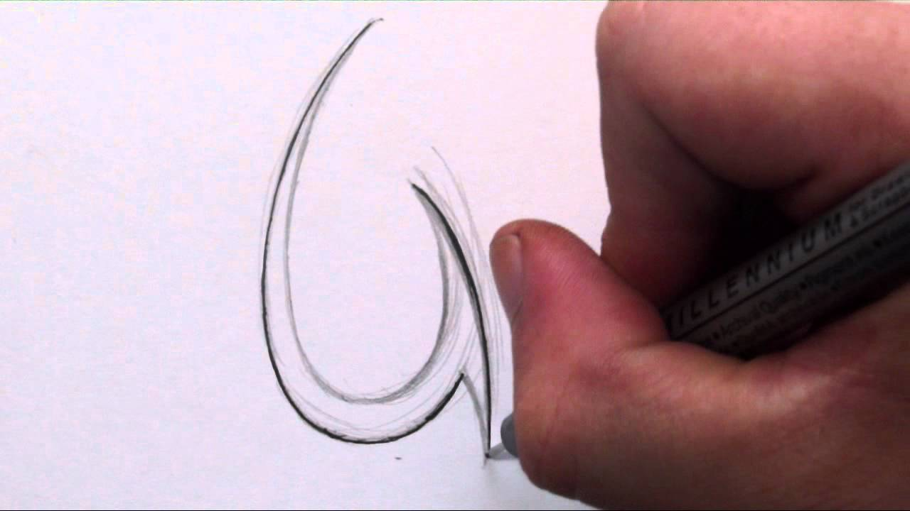 How To Draw a Simple T...U Letter Design Tattoo