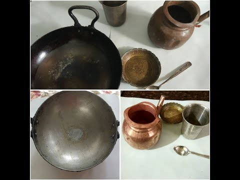 Indian utensils cleaning routine with old method /Indian kitchen cleaning routine /how to clean tawa