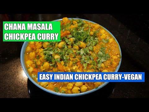 How to Make Chickpea Curry - Chana Masala Recipe - Chole Masala - Vegan Curry - Easy Vegan Recipes