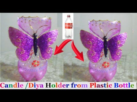 How To Make Candle Stand Diya Stand From Plastic Bottle Diwali