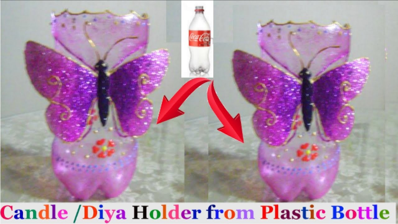 How to make candle stand diya stand from plastic bottle for Best out of waste ideas for class 7