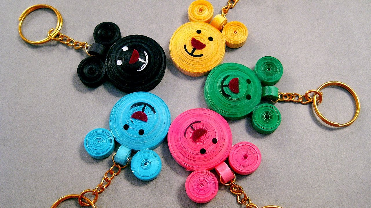 Beautiful Designs paper quilling designs - beautiful micky mouse key chains paper