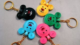 Paper Quilling Designs - Beautiful Micky Mouse Key Chains Paper Quilling Designs - पेपर क्विलिंग