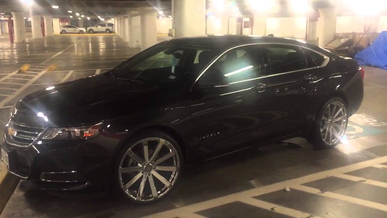 2014 chevy impala lt on 22 rims velocity 12 youtube. Black Bedroom Furniture Sets. Home Design Ideas