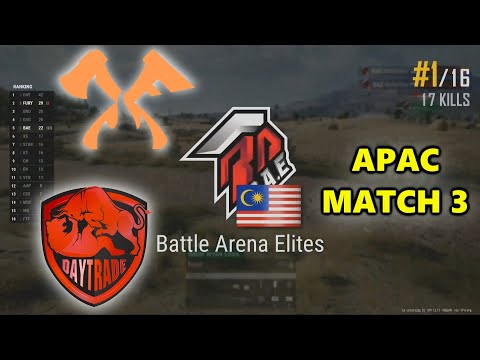 Battle Arena Elites - FURY - Daytrade Gaming - PUBG Continental Series 2: Asia Pacific - Match 3