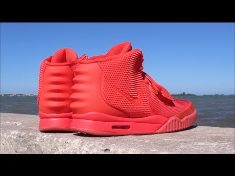 Nike Air Kanye West Yeezy 2 Red October - Attention to Detail