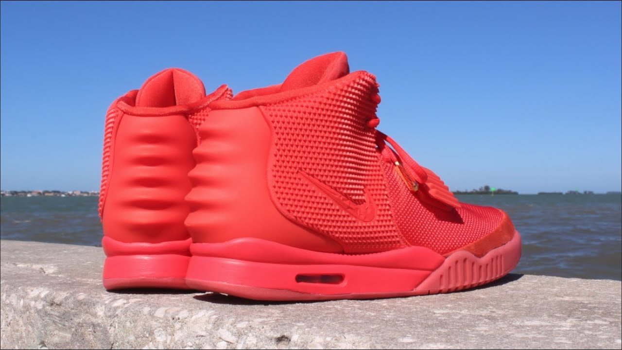 6dd188d638e3f Nike Air Kanye West Yeezy 2 Red October - Attention to Detail - YouTube