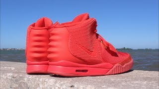 Nike Air Kanye West Yeezy 2 Red October Attention To Detail