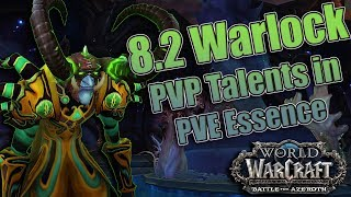 BFA - 8.2 Warlock Conflict and Strife Essence! AOE Chaos Bolts, Demonology's New Interrupt and More!