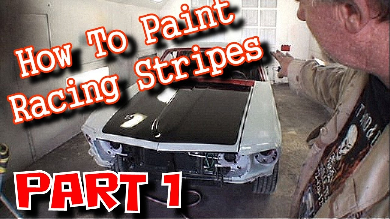 How To Paint Custom Racing Stripes On A Car Or Truck Part 1