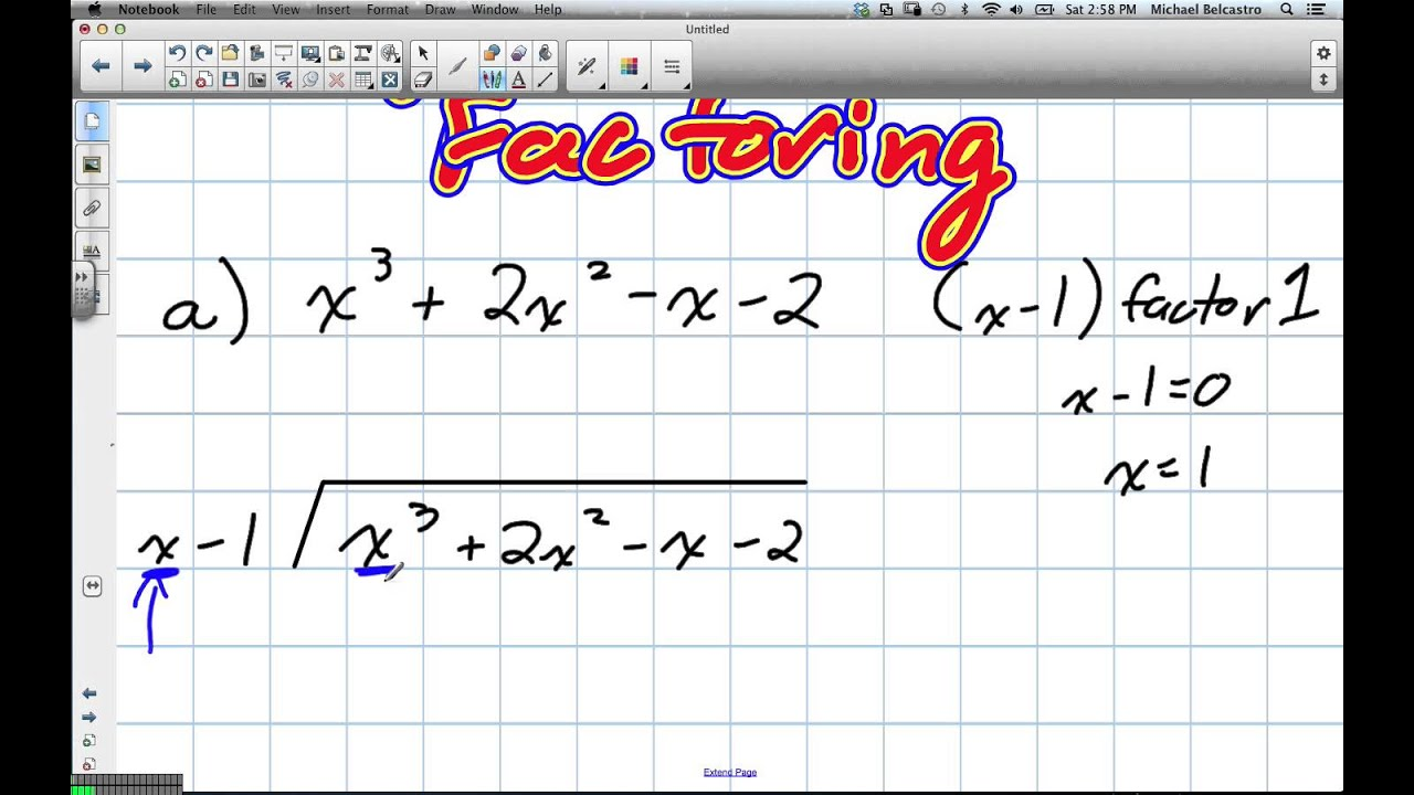 Factoring By Long Division Grade 12 Advanced Functions Lesson 1 5 1 26 13