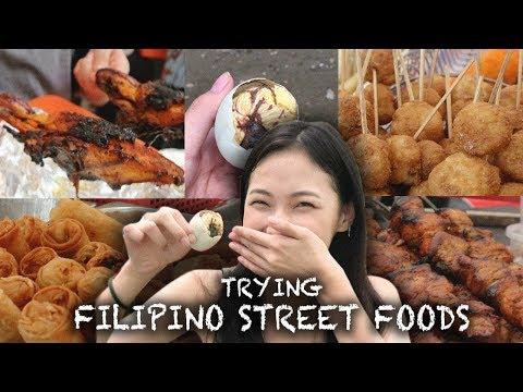 Trying Filipino Street Foods 필리핀 길거리 음식 먹방