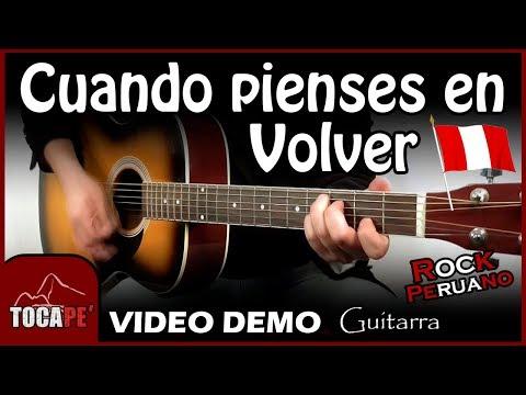 Cuando pienses en Volver - Pedro Suárez Vértiz - Video Demo de Guitarra 🎸