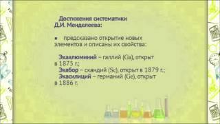 ch0106 Периодический закон и периодическая система Д.И. Менделеева