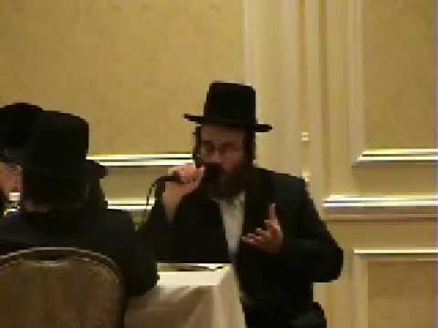 Isaac Honig singing at the Bar Mitzvah of Rafael Schonfeld in Williamsburg