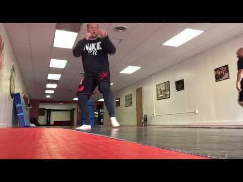 Practicing the forward sweep kick