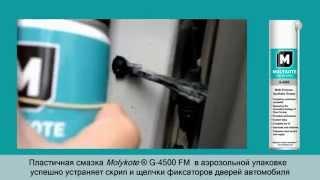 Смазка ограничителей хода двери автомобиля. Molykote G-4500 FM(, 2014-07-16T05:23:45.000Z)