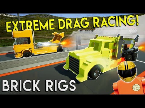 ULTIMATE DRAG RACE CHALLENGE! - Brick Rigs Multiplayer Gameplay Challenge & Creations