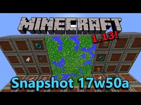 Minecraft 1.13 Snapshot 17w50a- Item Frames on Ceilings & Floors, Local Coordinates!