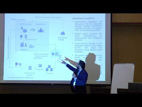 Sameer Dharap Speaking on the Financial Technology with Blockchain
