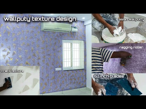 Wall putty texture Paint design Ideas and Techniques for interior