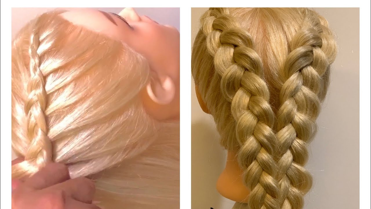 Braided Hairstyles   How to Dutch Braid   standard braid   Braids tutorial   by kanomtarn