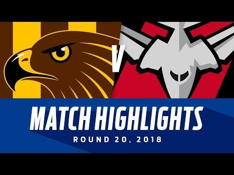 Hawthorn v Essendon Highlights | Round 20, 2018 | AFL