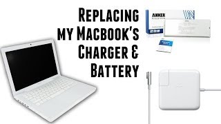 "[Unboxing] Apple MagSafe 60W Power Adapter & Anker New Laptop Battery for Macbook 13"" Apple A1185"