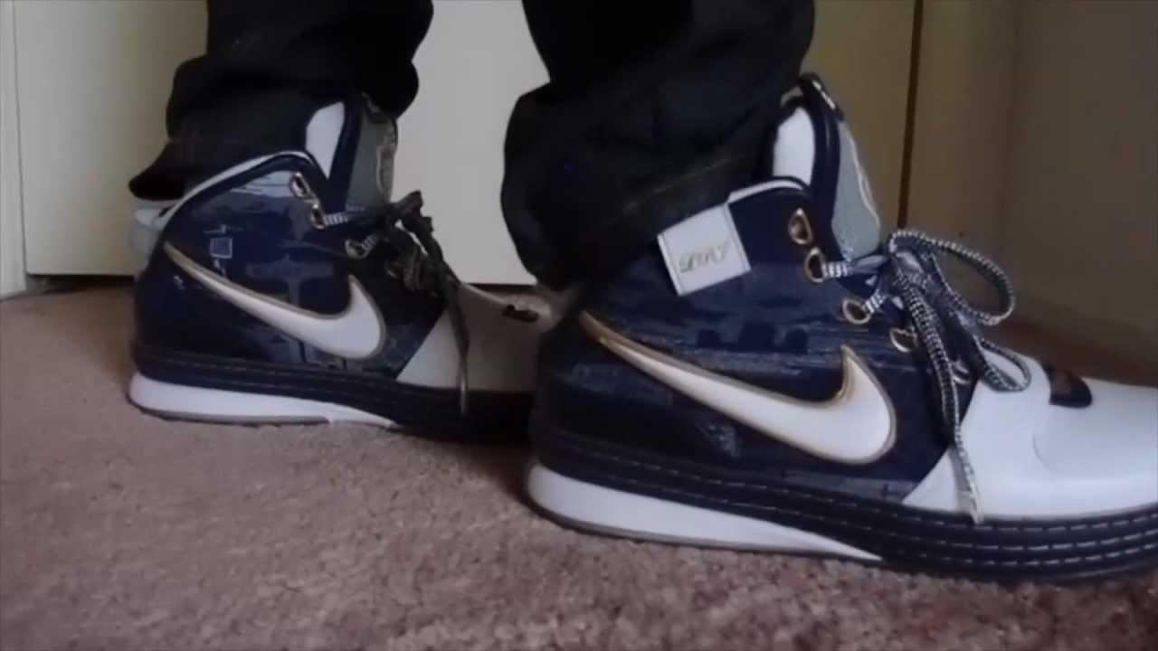 new concept 6c037 7be26 Nike Lebron VI (6)  Akron  ON FEET - YouTube
