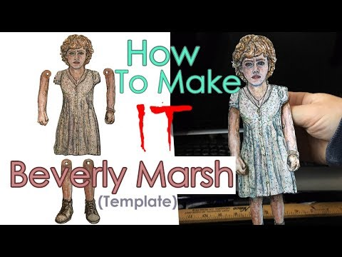 How to Make IT (Beverly Marsh) Paper Puppet Template DIY (2018) HD