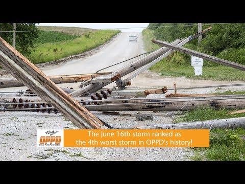 OPPD's 4th Worst Storm - June 16th 2017 Recap
