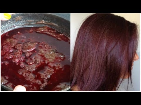 How To Colour Your Hair Naturally At Home - 100 % Natural hair ...