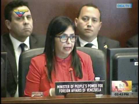 Delcy Rodríguez: Almagro ha dedicado su gestión en la OEA a agredir a Venezuela