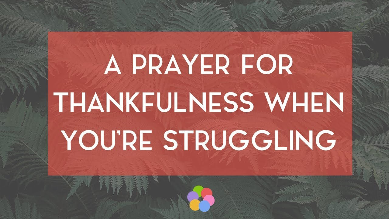 A Prayer for Thankfulness When You're Struggling