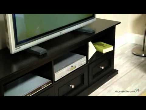 Belham Living Hampton TV Stand with Drawers - Black