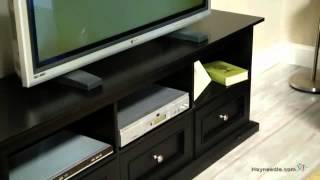 Belham Living Hampton Tv Stand With Drawers - Black