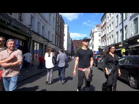 The UK Today - Walking Along Old Compton Street,Soho,London,West End  W1