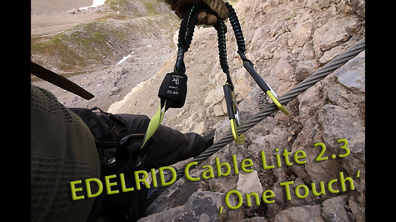 Klettersteigset One Touch : Edelrid cable lite 2.3 one touch speedreview youtube