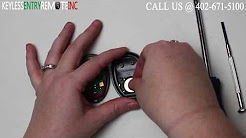 How To Replace GMC Hummer H3 Key Fob Battery 2006 2007 2008 2009